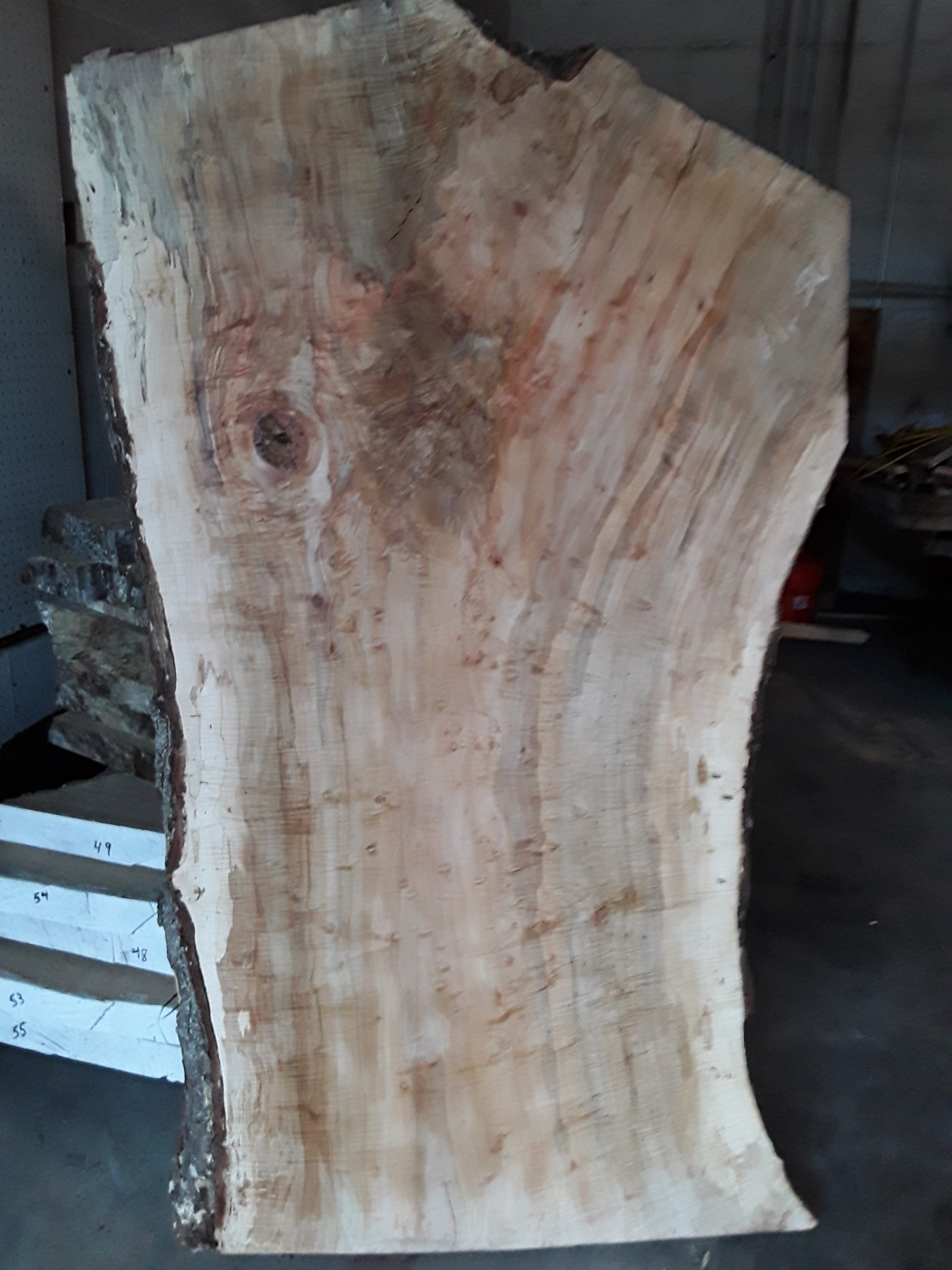 Red maple crotch reclaimed from highland springs