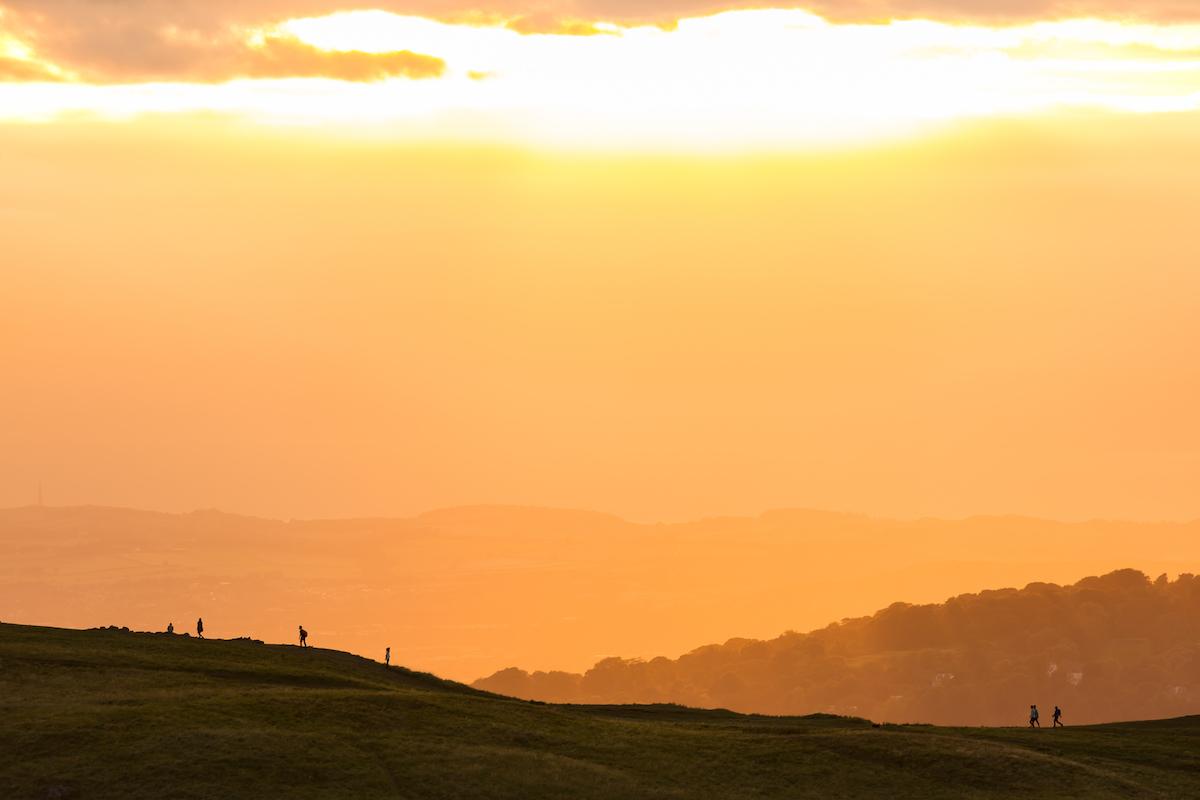 David Wheater Photography, 30 Photography Tips. Golden Hour Sunset on Arthur's Seat, Holyrood Park, Edinburgh, Scotland. Copyright David Wheater. All Rights Reserved.jpg