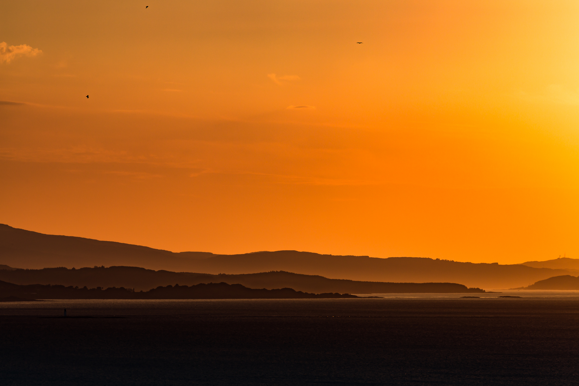 (706) Duart Point, Firth of Lorn, at Sunset, Oban, Argyll and Bute, Scotland.jpg