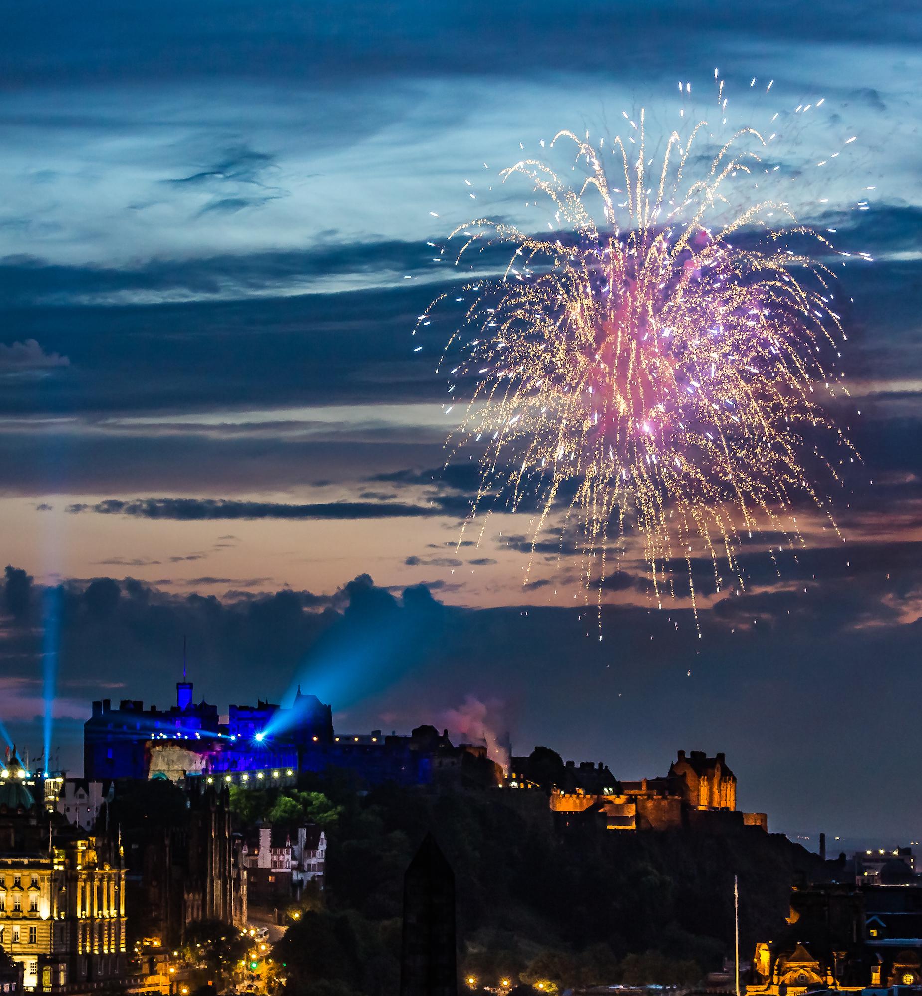 (563) Edinburgh Castle and Fireworks at The Royal Edinburgh Military Tattoo, Edinburgh, Scotland.jpg