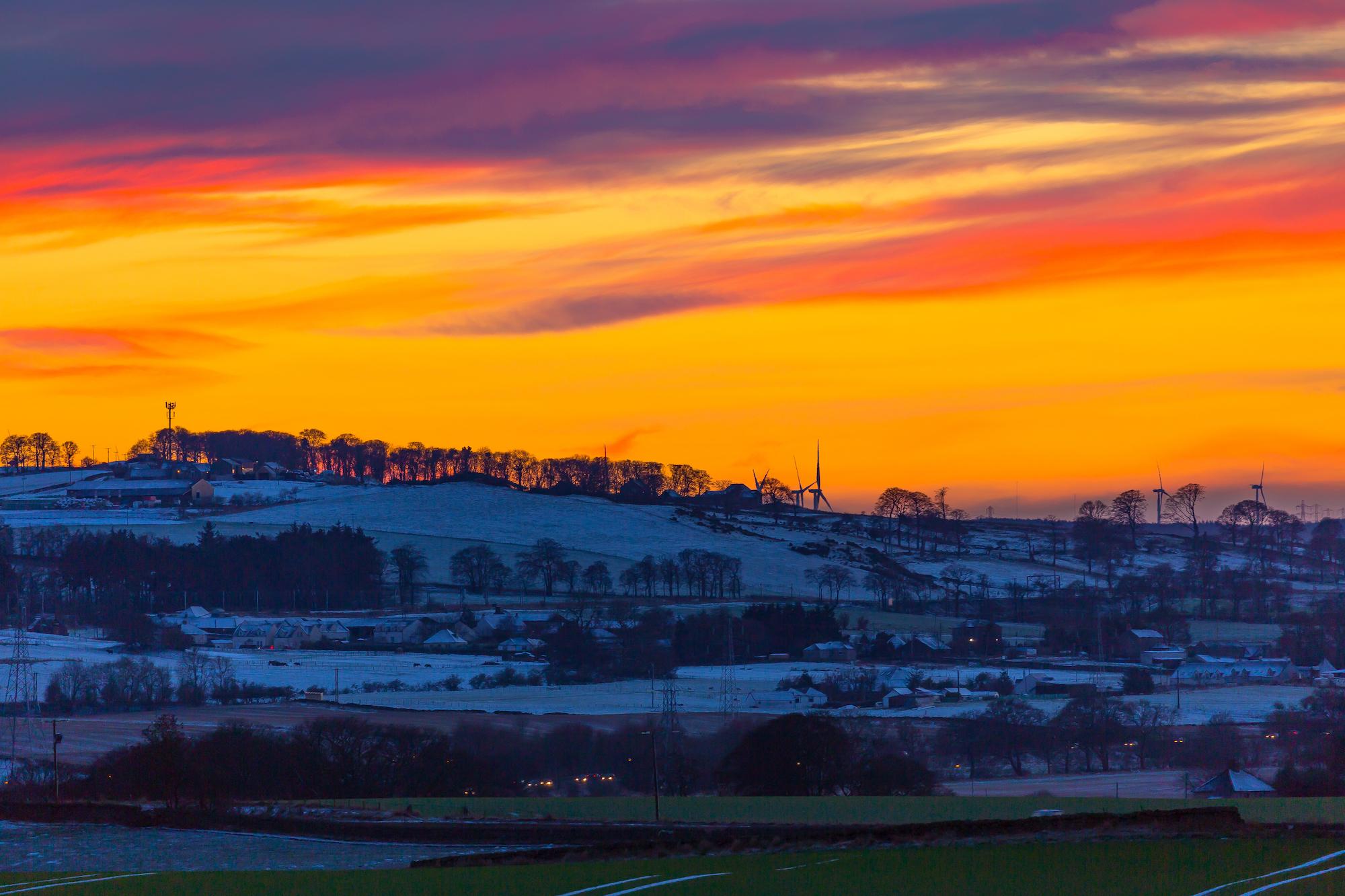 (368) Winter Sunset over West Lothian, Scotland, January 2017.jpg
