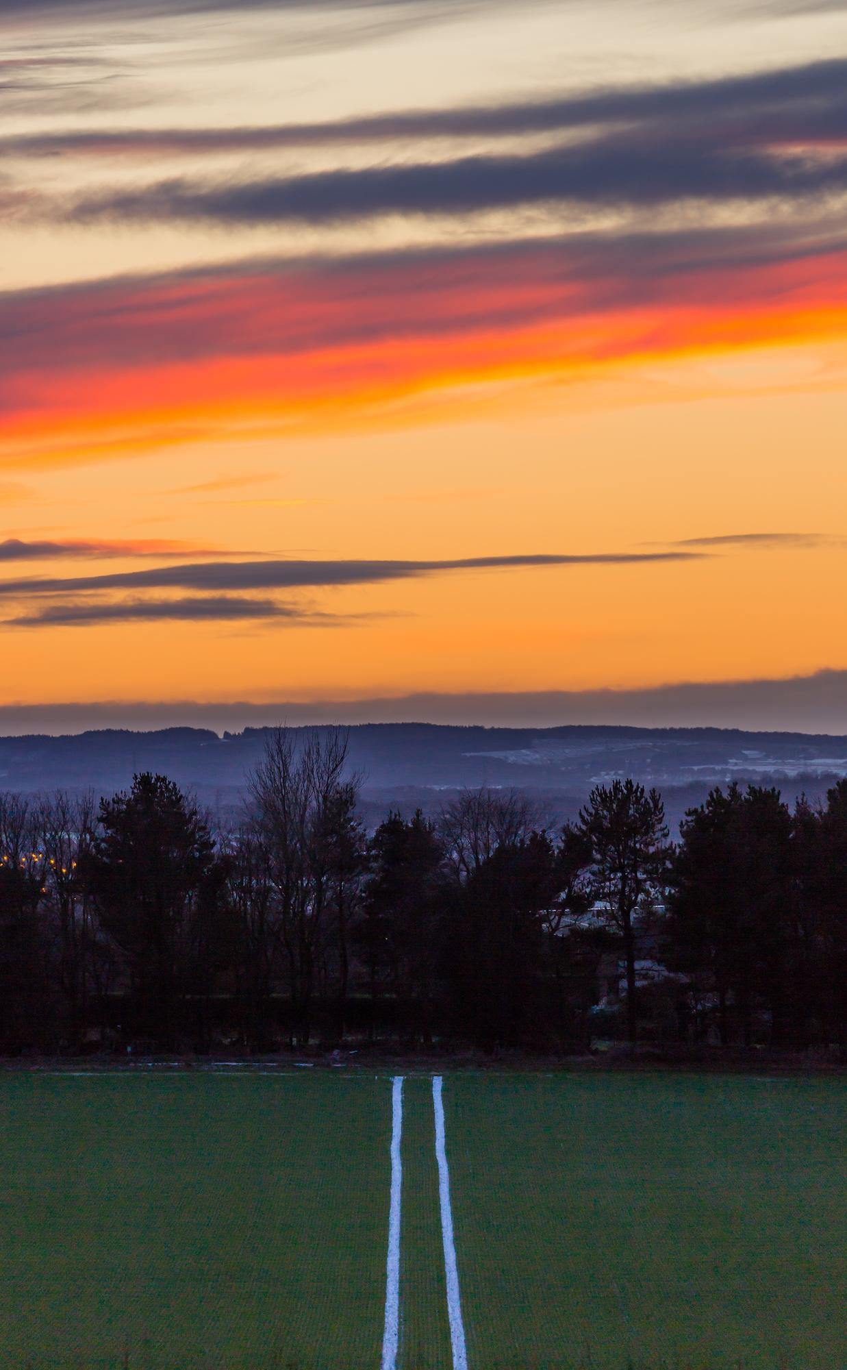 (369) Winter Sunset over West Lothian, Ratho, Scotland. Copyright David Wheater.jpg