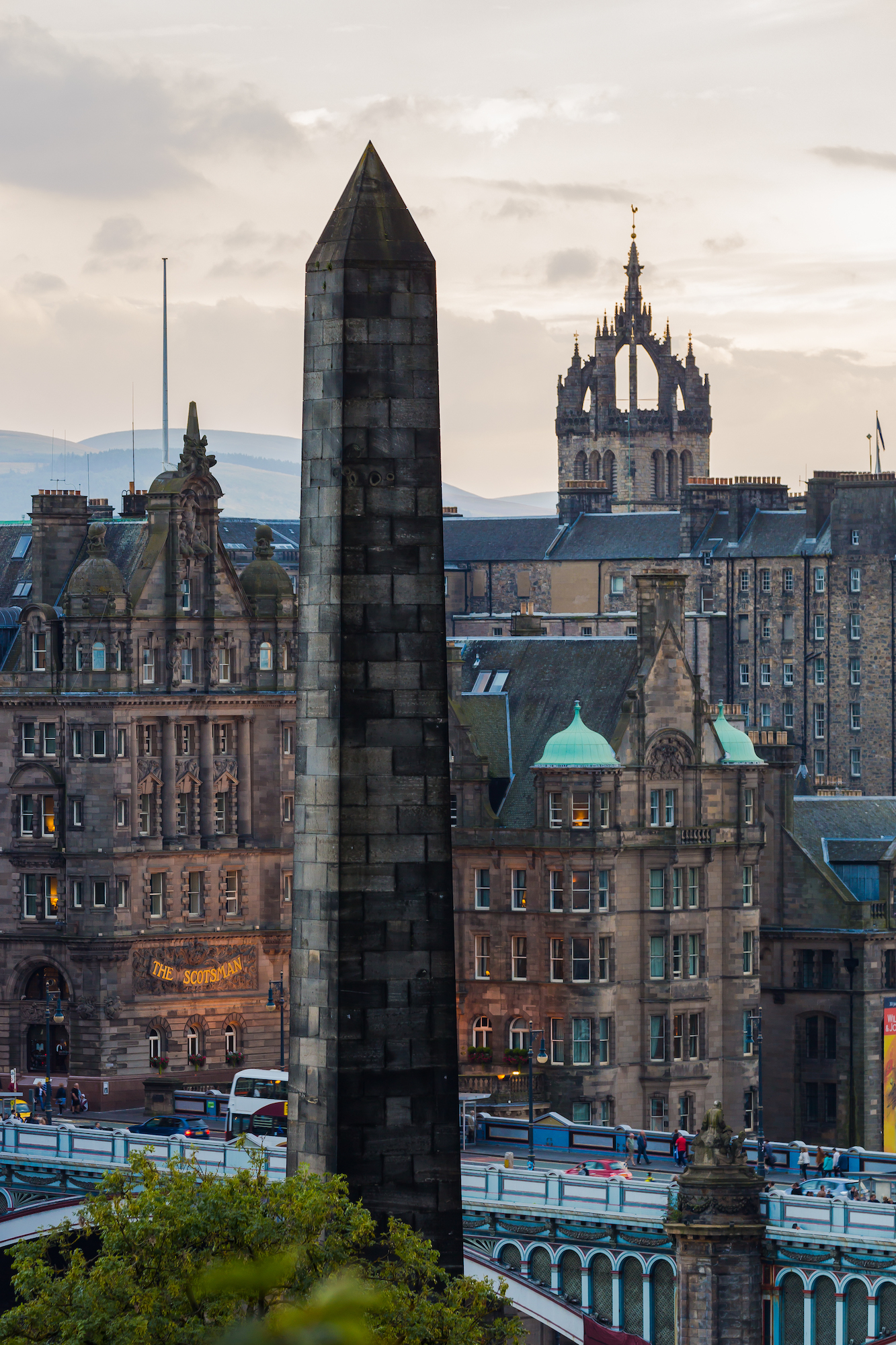 (403) The Political Martyrs Monument, Old Calton Burial Ground, Calton Hill, The Scotsman Hotel, St Giles' Cathedral Spire, Edinburgh, Scotland.jpg