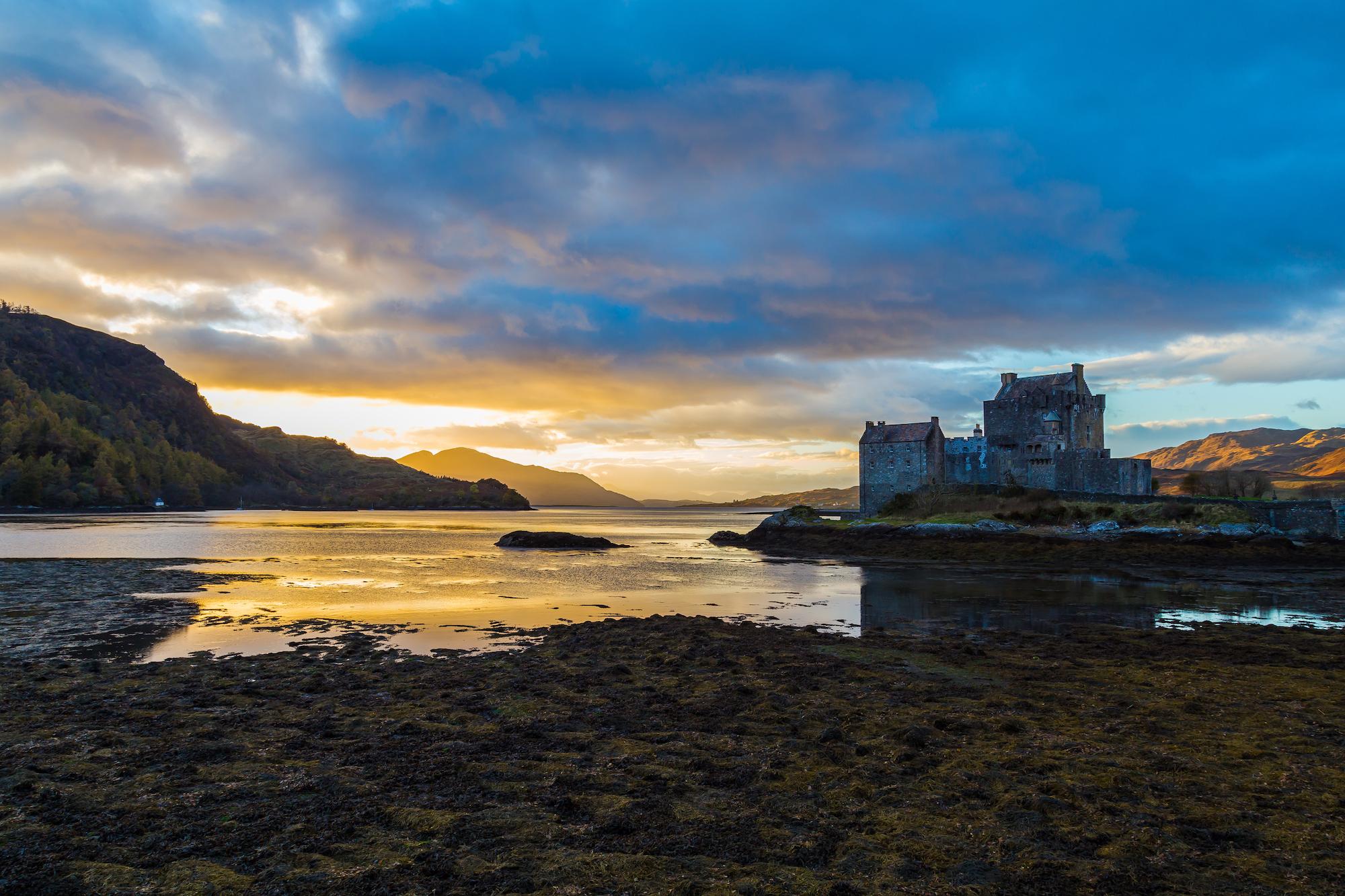 (287) Eilean Donan Castle and Loch Alsh, Dornie, Kyle of Lochalsh, Scotland. Copyright David Wheater.jpg