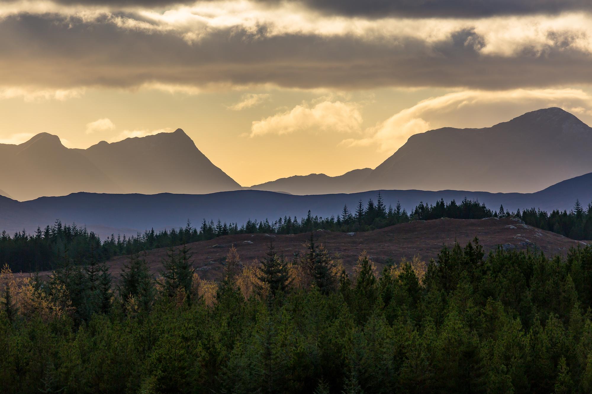 (301) Glen Loyne, Glenquoich Forest to Mountains in Glen Kingie, Scotland.jpg