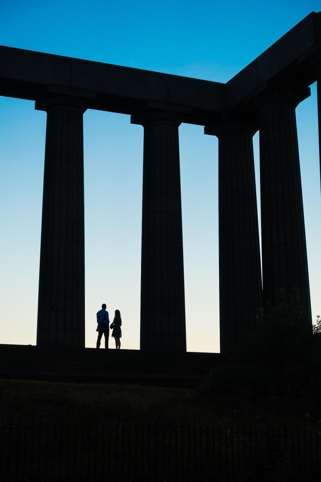 (209) (PO) Couple enjoying a moment, The National Monument of Scotland, Calton Hill, Edinburgh, Scotland.jpg