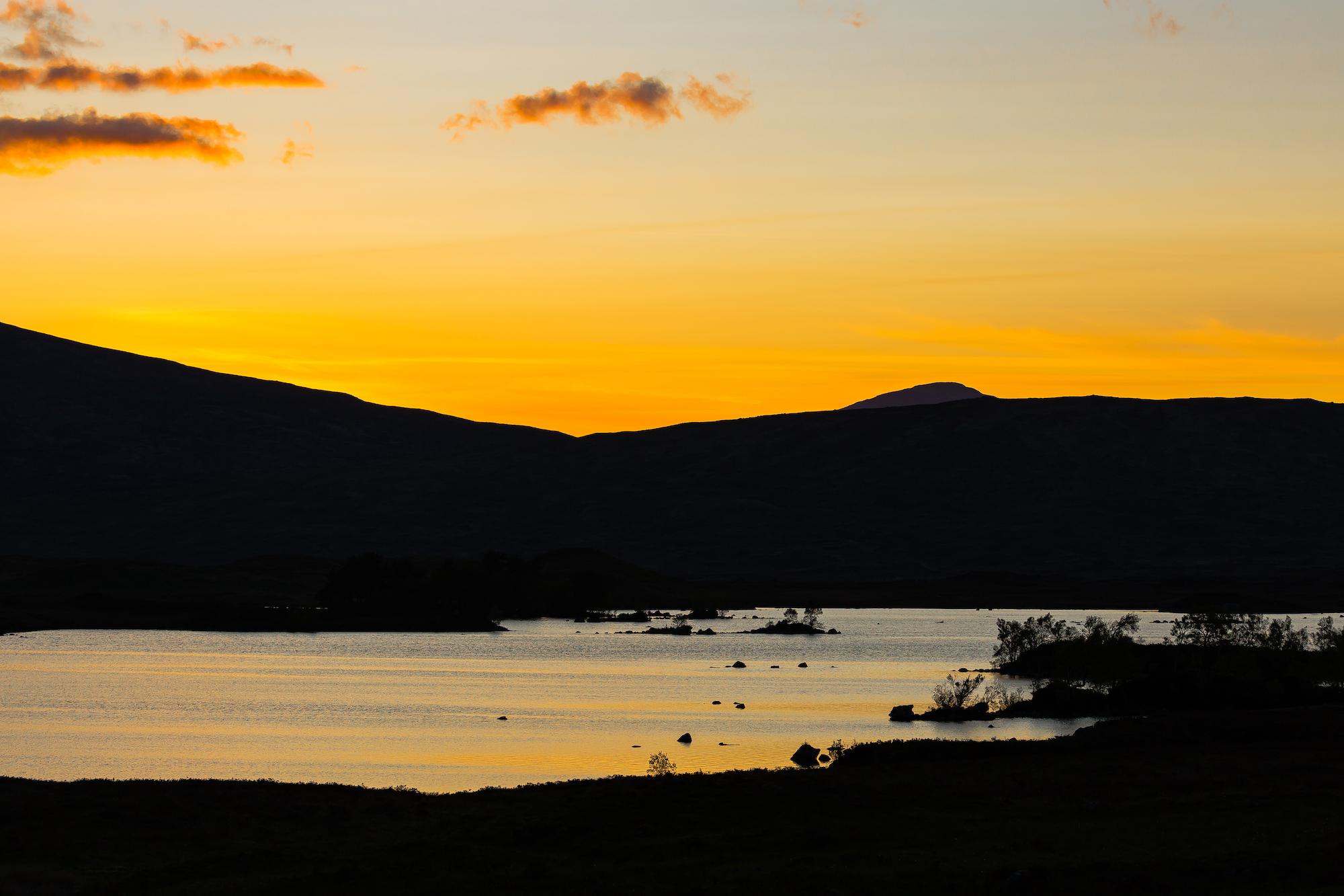 (175) (PO) Sunset over Lochan na h-Achlaise, Rannoch Moor, Glen Coe, Scotland.jpg