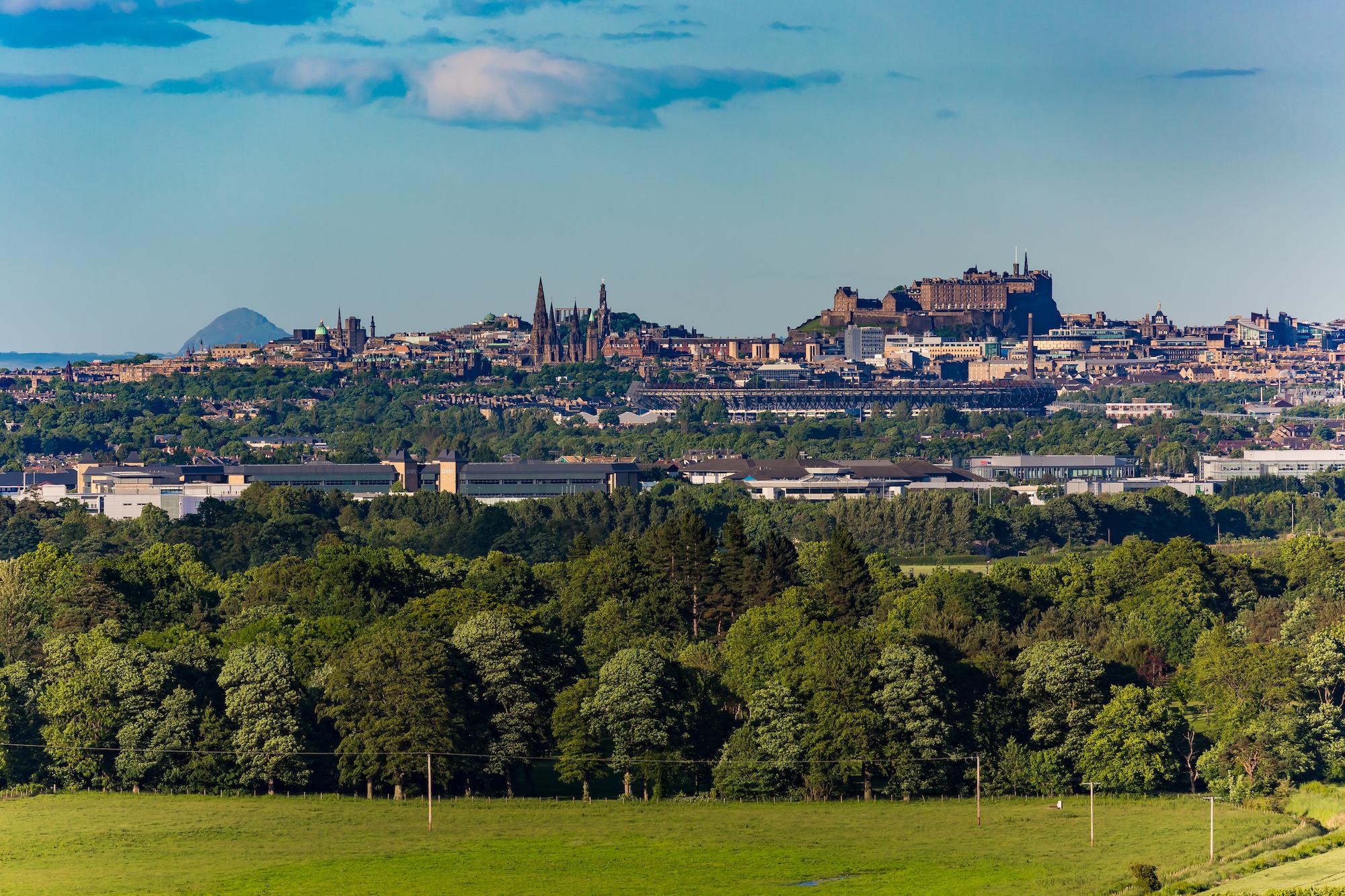 (169) Edinburgh City Skyline from Platt Hill in Ratho, Edinburgh, Scotland. Copyright David Wheater.jpg