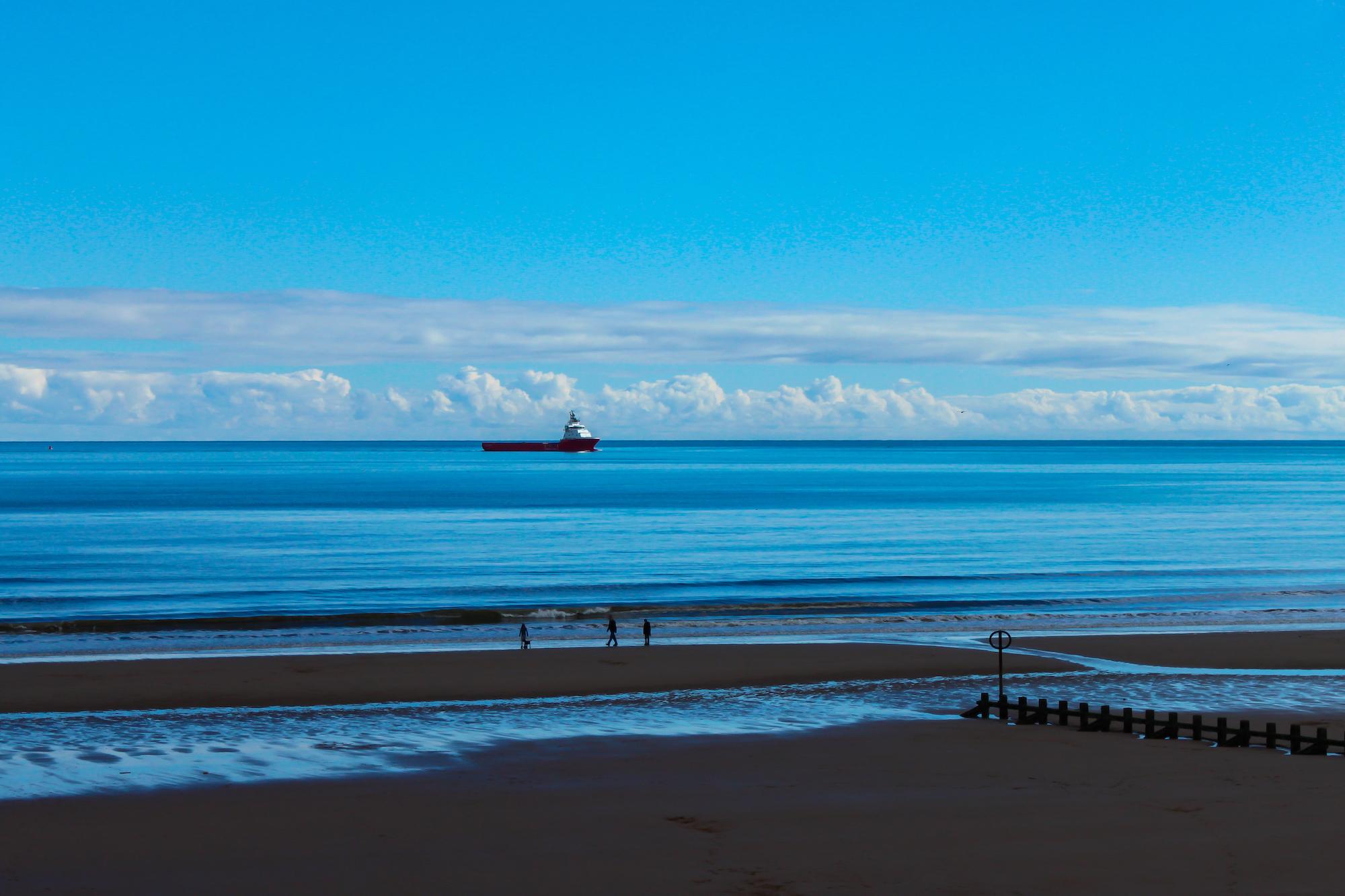(61) The Beach at Aberdeen, Scotland. Copyright David Wheater.jpg