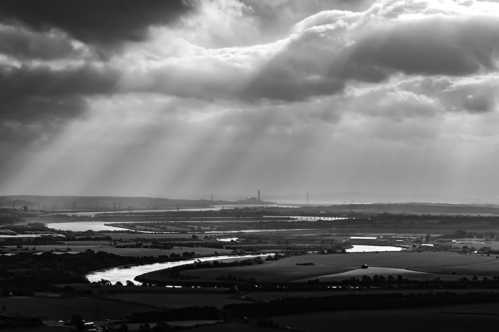 (73) View from the National Wallace Monument, Stirling down River Forth to Grangemouth and Kincardine, Scotland. Copyright David Wheater.jpg