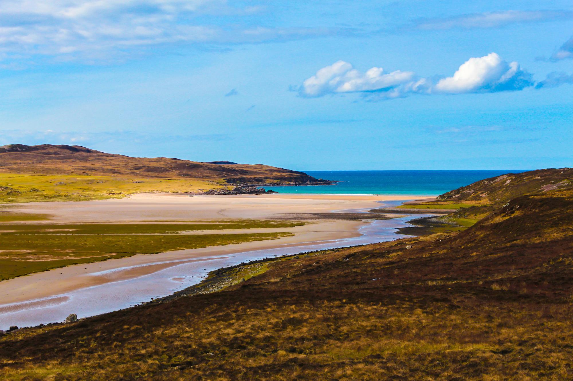 (68) Achnahaird beach looking to Enard Bay, Coigach, West coast of Scotland. Copyright David Wheater.jpg