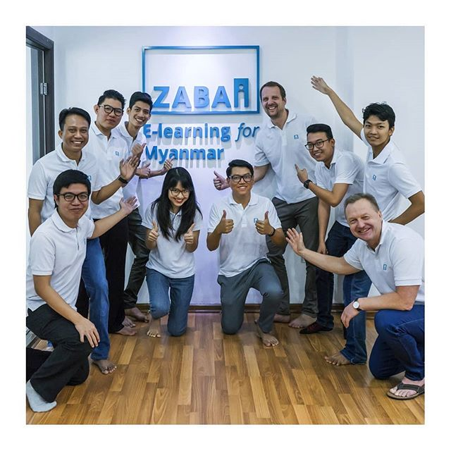  We got the whole gang together   There is nothing better than having the perfect squad and being able to create eLearning courses TOGETHER.  For more info, please check www.zabai.no or our facebook pages.  #myanmar #elearning #officesquad #team