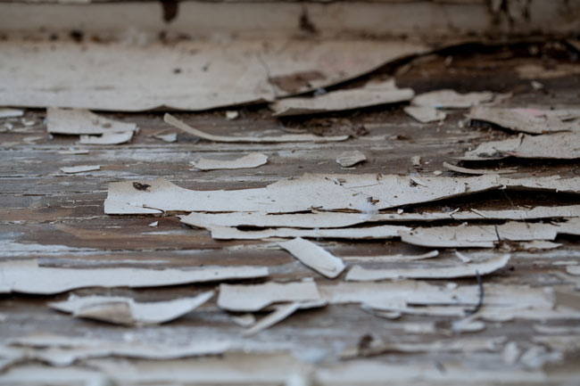 Lead based paint was commonly used in structures built prior to 1978. -