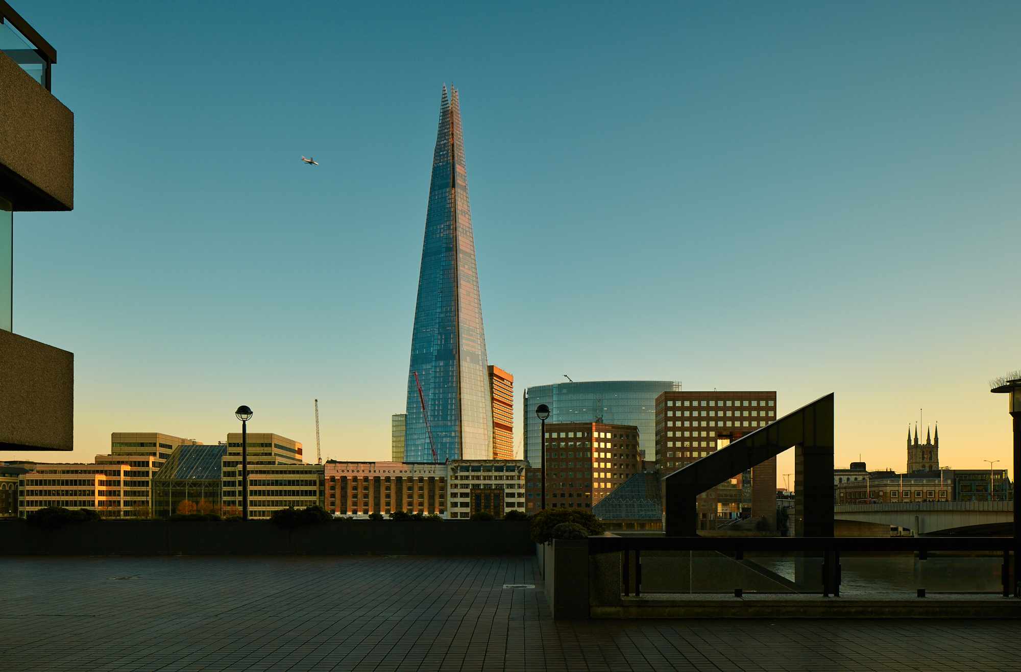 Shard and Southwark Cathedral, London