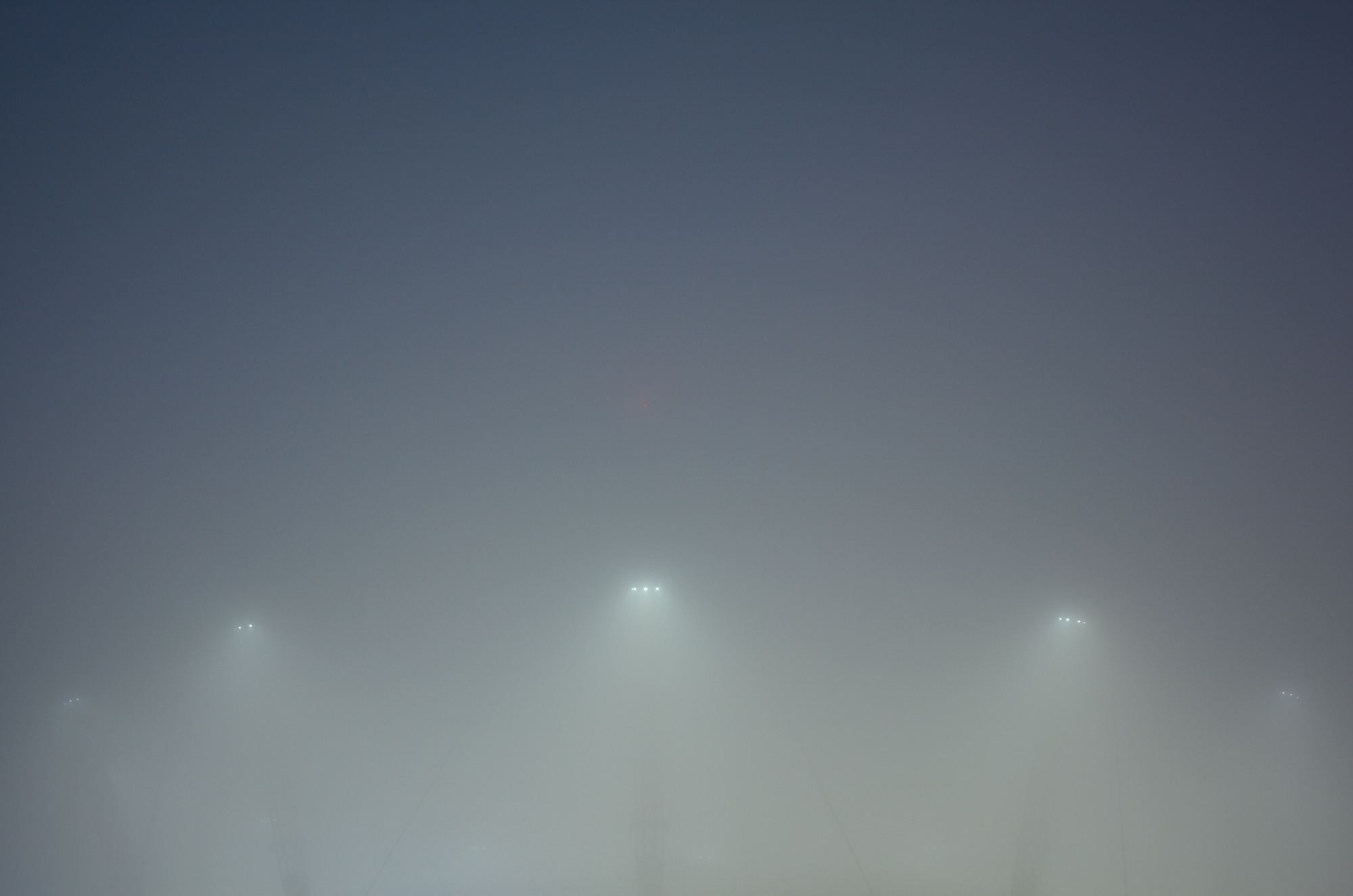 The O2  in mist, London