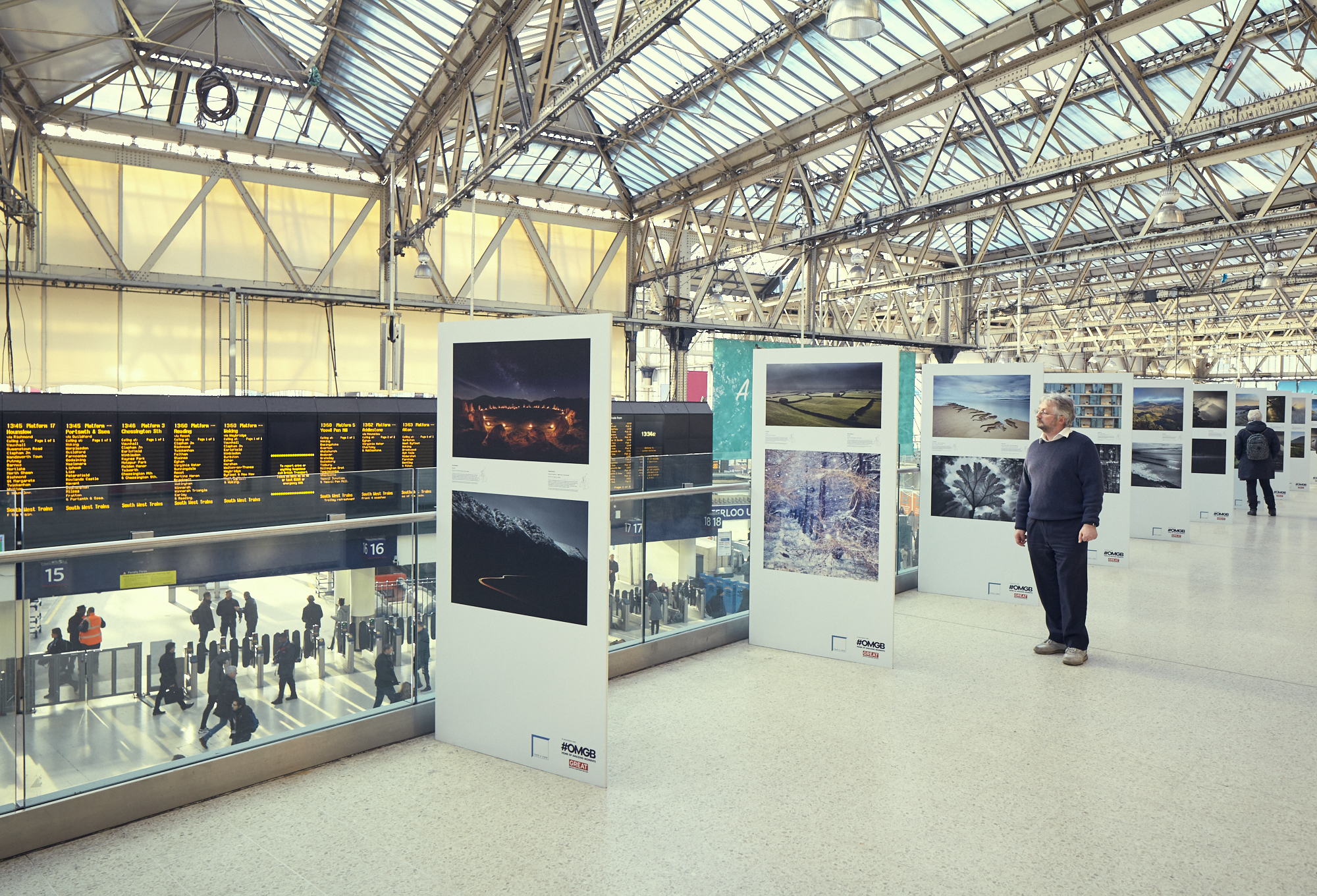 LPOTY 2016, View at the Exhibition in Waterloo station, London (January 2017)