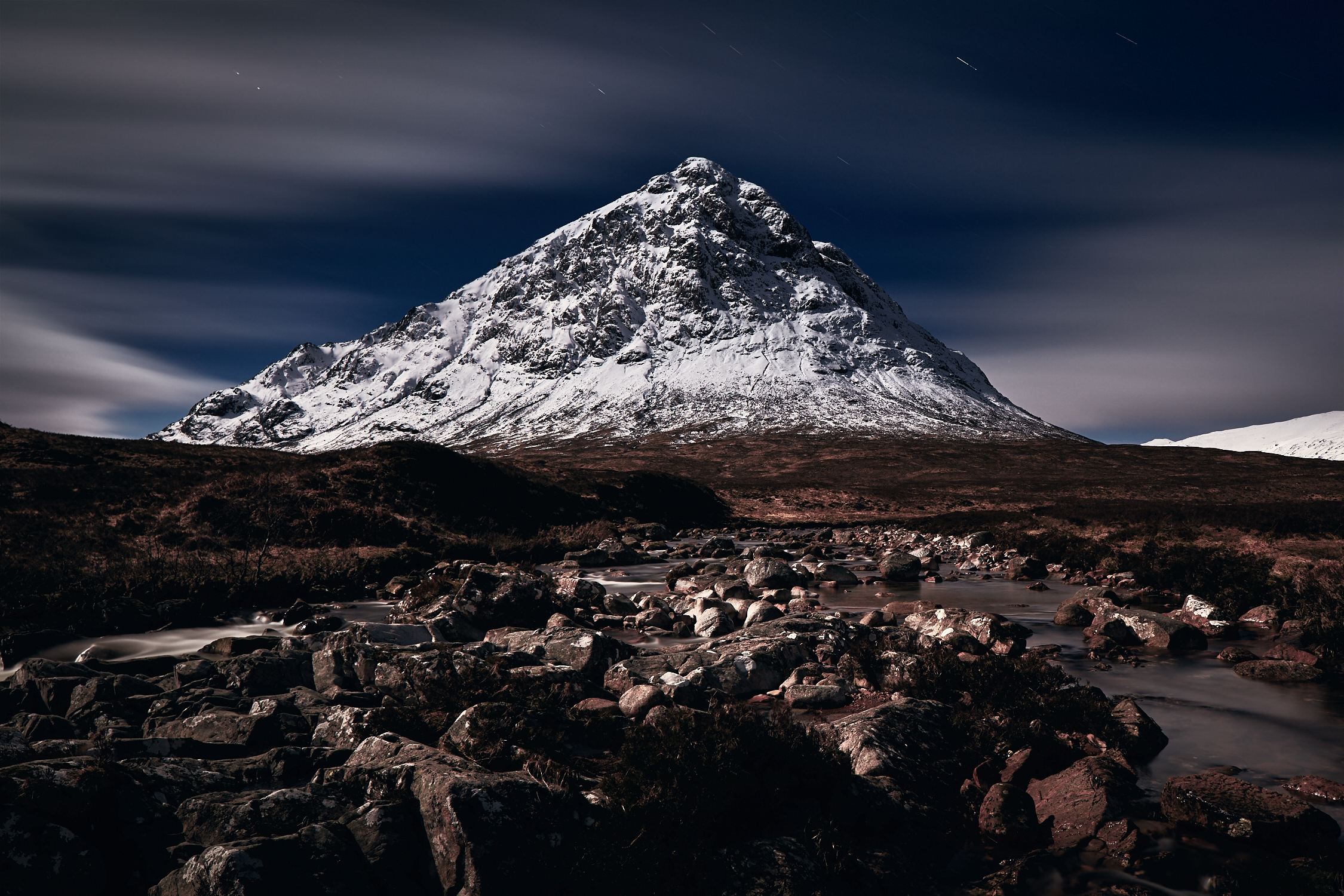 Buachaille Etive Mor in Full Moon