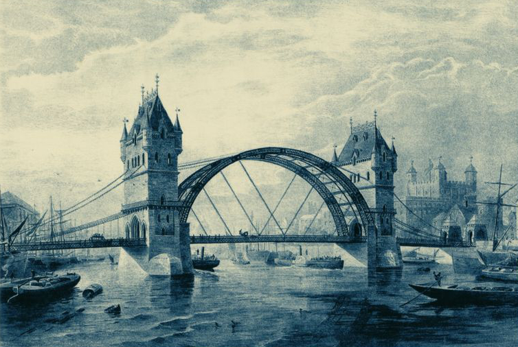 Earlier design of Tower Bridge