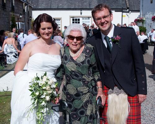 Ida, aka Mega G, at Emma and Niall's wedding.