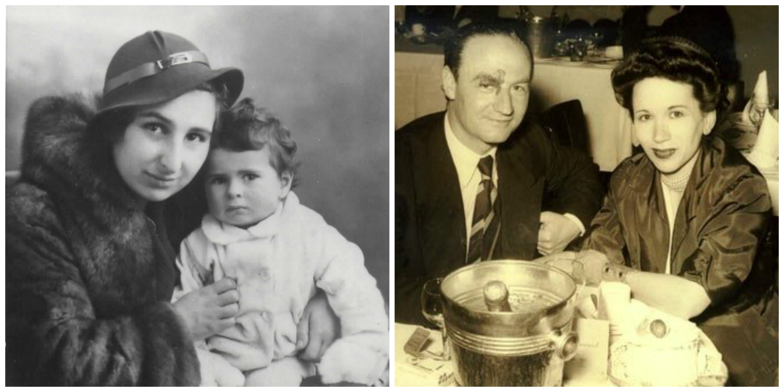 Left: Eva with her daughter  Right: Kitty with her husband
