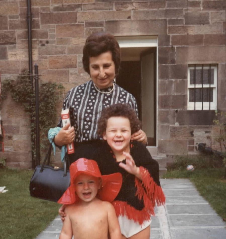 Sara and brother Ben with Eva,Nana Rosen