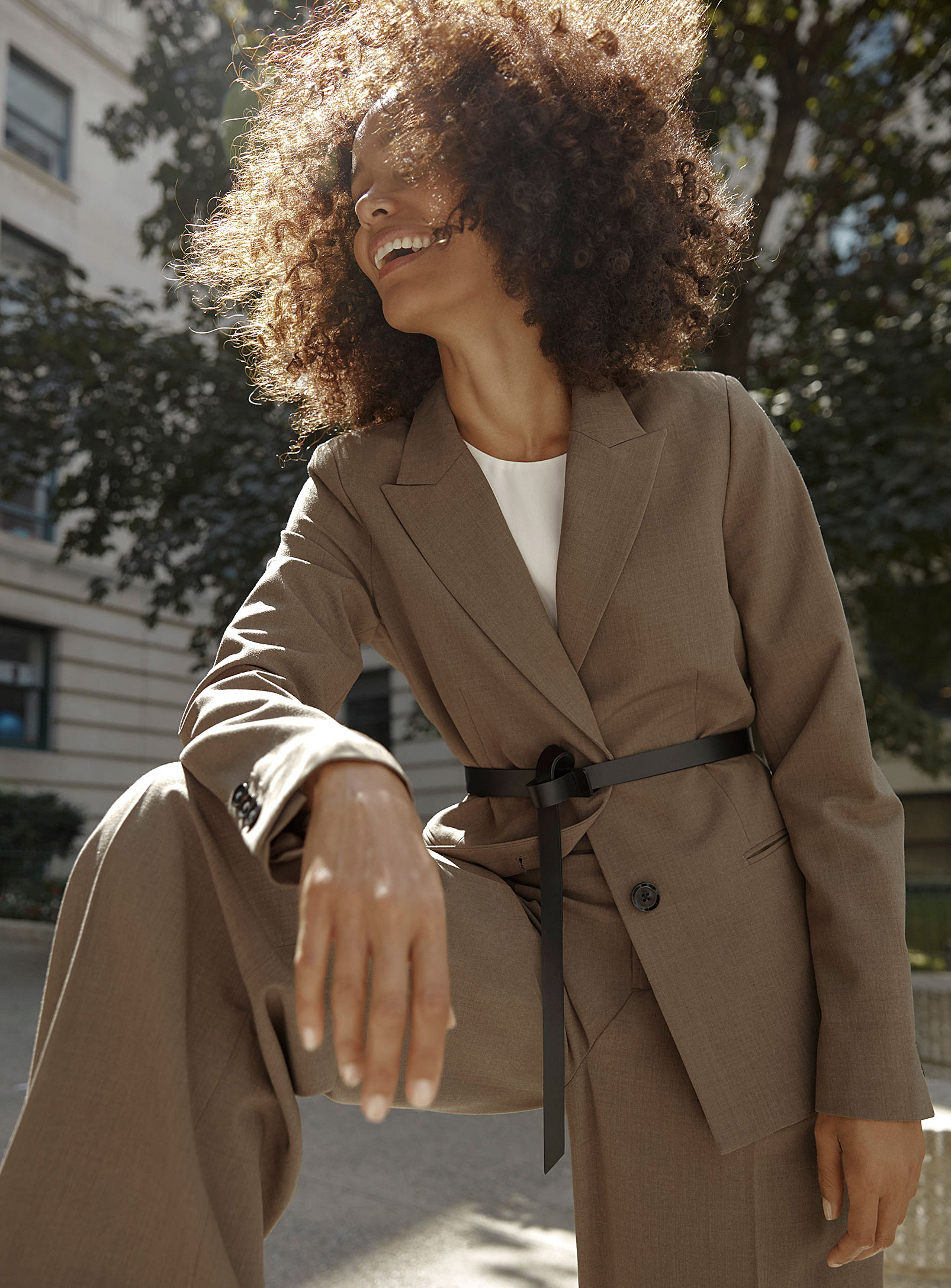 WORKWEAR GALORE - Even if you don't work a 9 - 5 job during the weekdays, you can still jump on the bandwagon of our favourite FW19 trend. From structured pantsuits to satiny wrap skirts and chunky knits, Simon's Workwear collection is elegance made effortless. Shop asymmetrical hemlines, contrasting materials, revisited fits, iconic prints, and Fall's hottest colour palette — sage, pastel blue, copper...
