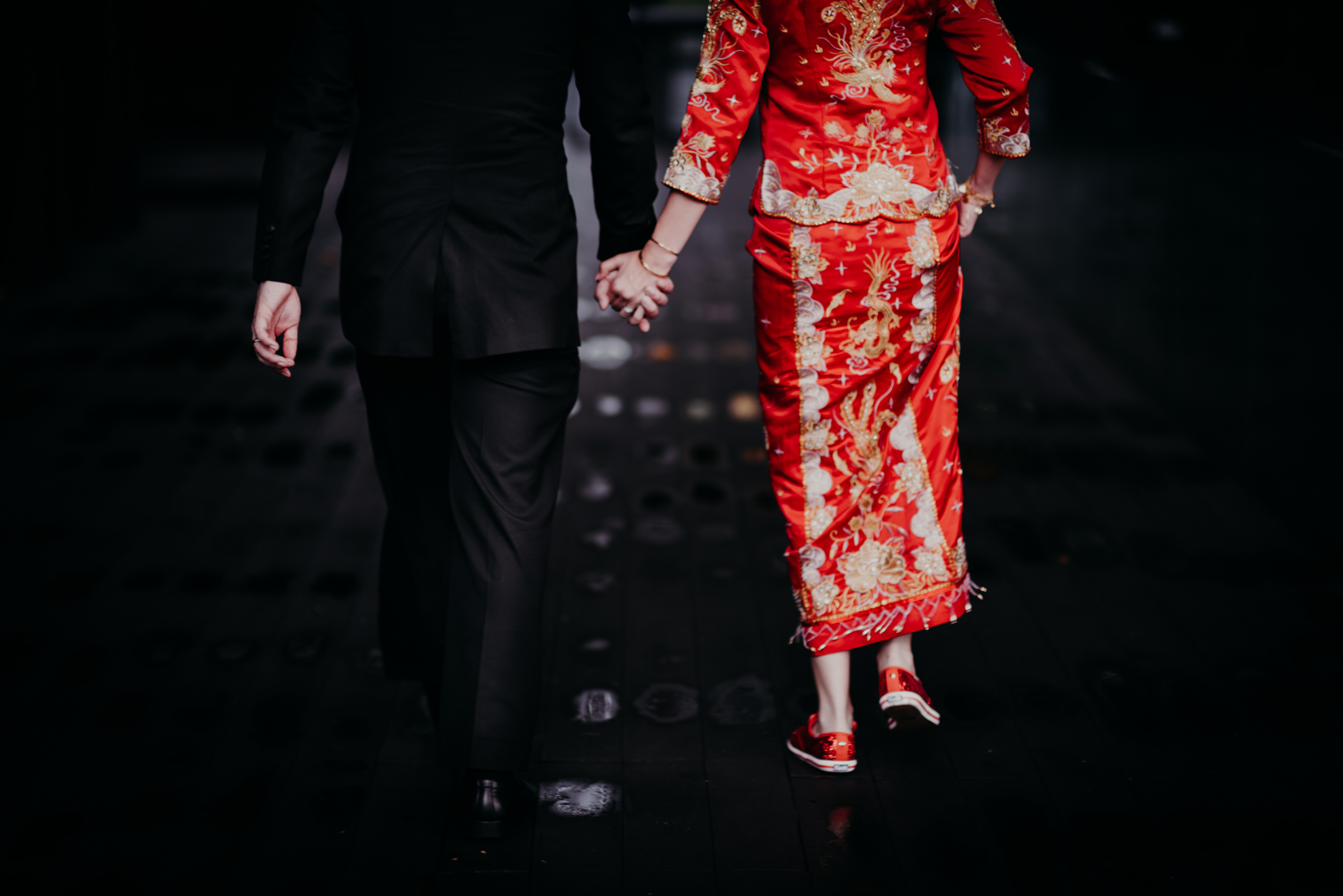 """Hand in hand towards our first march in as Man and Wife, and to a lifetime together"""