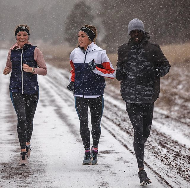 We got some help from @kingcheserek today as we plowed through a bit of wind and snow. Loving the weather this morning in Flagstaff!   #TeamNB #CoogsCrew 📷: @justinbritton