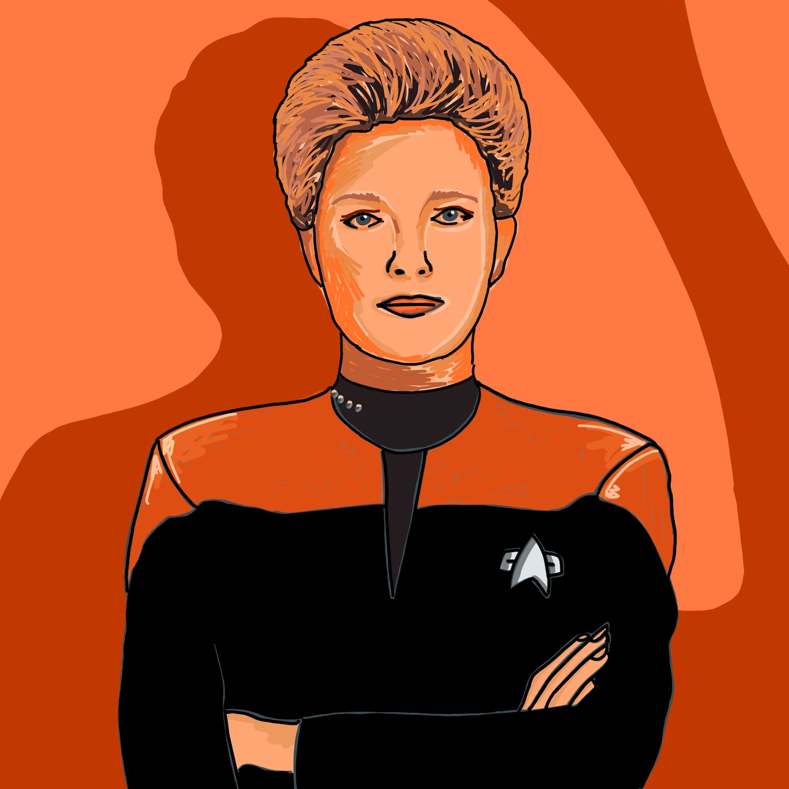 Kathryn Janeway ⁣ I was brought up on Star Trek, as Dad's always been a fan, so naturally it was on telly a fair bit growing up. Voyager was always my favourite though, as I just loved Kathryn Janeway. Her character was such an inspiring leader, and I think in more recent years (having re-watched it all a couple of years ago), I've come to realise that she's actually had a pretty profound impact on how I feel leadership should be. ⁣ ⁣ She commands her ship with such diligence and care, navigating them through unknown, often treacherous territories, with the sole aim of getting them home. She's thoughtful, kind, innovative, and respectful of her crew. She takes risks, which sometimes don't pan out, but ultimately she always has the wellbeing of her crew at the core of all of the decisions she makes. She learns from her mistakes, moving forward to the next challenge, never wavering in her hope that they would find their way back (which, *spoiler alert*, they do)  🖖 ~ Jess