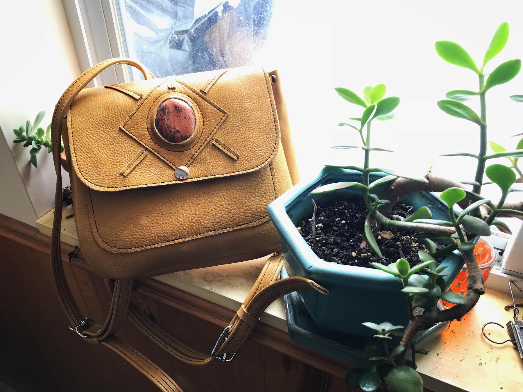 Rhiannon Backpack in Mustard Yellow