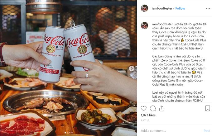 Chia sẻ của iamfoodtester về món thức uống mới nhận hiều sự quan tâm của fans.