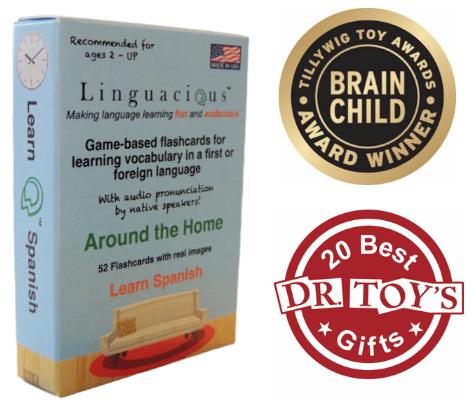 The  Linguacious™  Around the Home    Spanish game-based vocabulary flashcards.