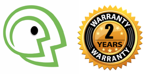 You are protected by our 2-year technical audio warranty