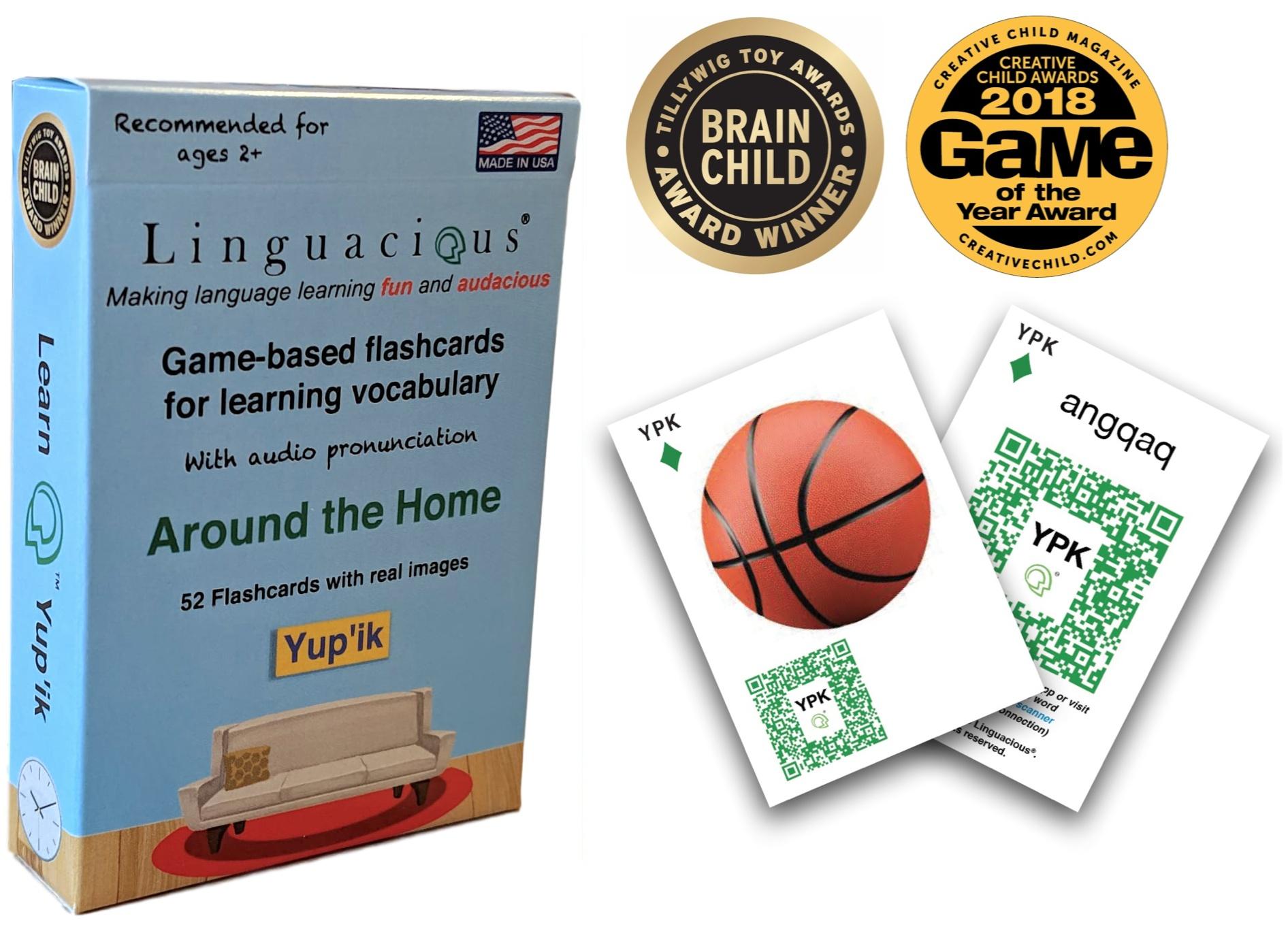 Around the Home Flashcards - Yup'ik (52 cards) — Linguacious®