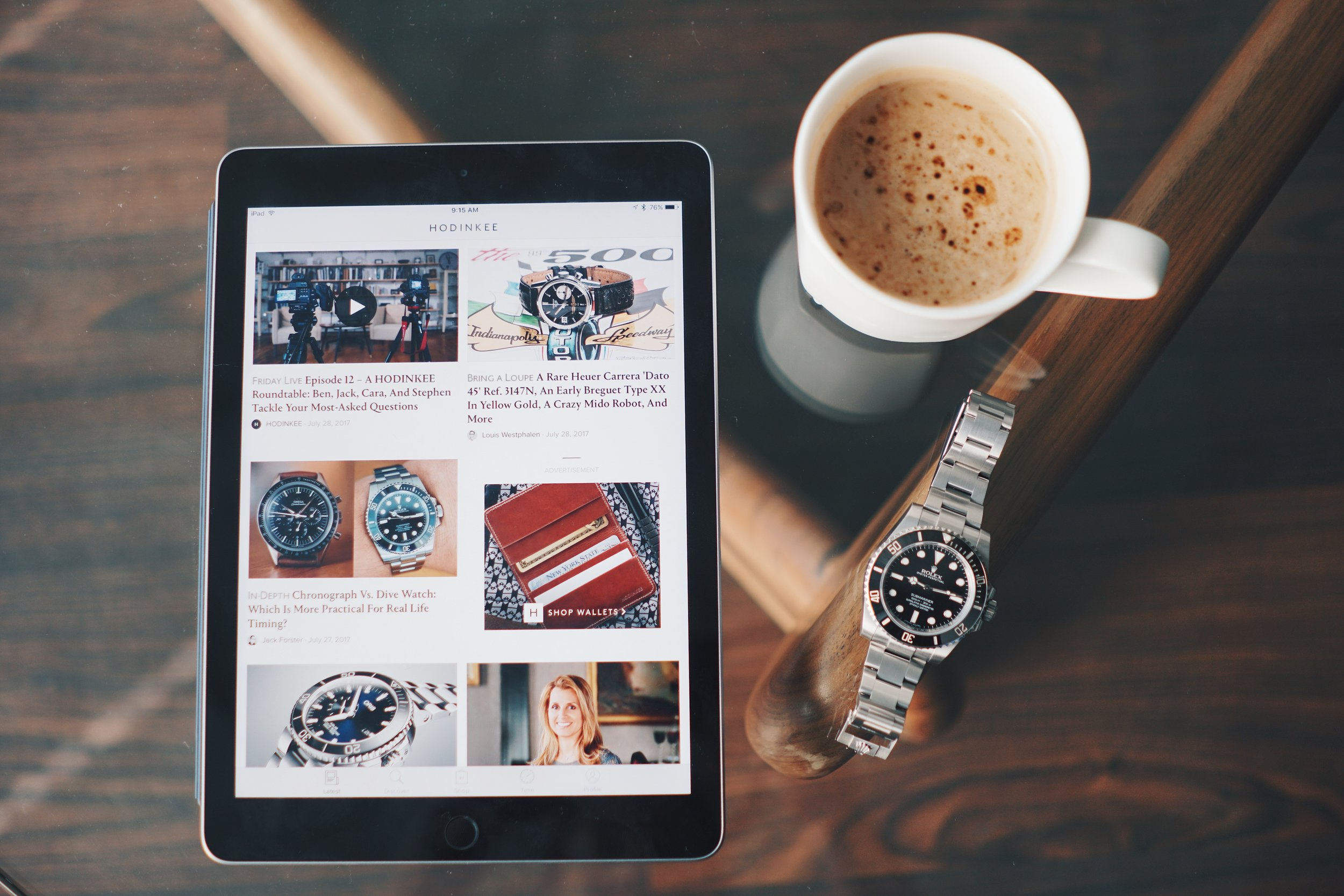 Hodinkee App on iPad