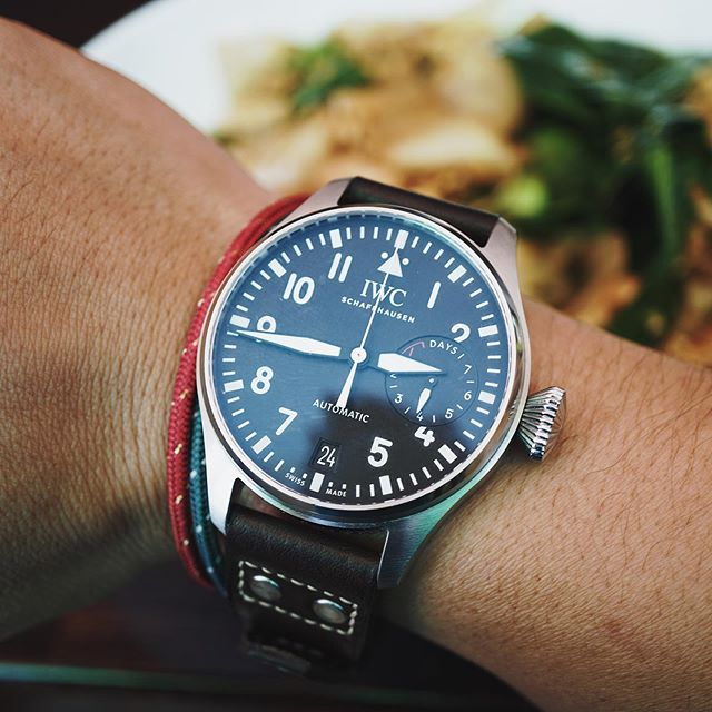Late lunch at one of my favorite Thai places. #IWC #BigPilot #IW500912 #iwcpilot #iwcbigpilot #bigpilotwatch #b_original #pilotwatches