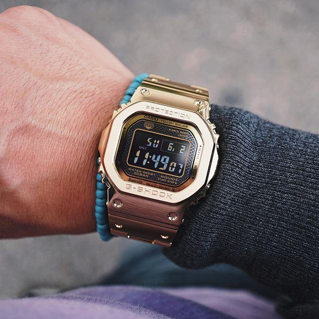 Not your grandfather's gold watch. #Casio #GShock #GMWB5000 #GShockFullMetal #GShockGold #digitalwatch