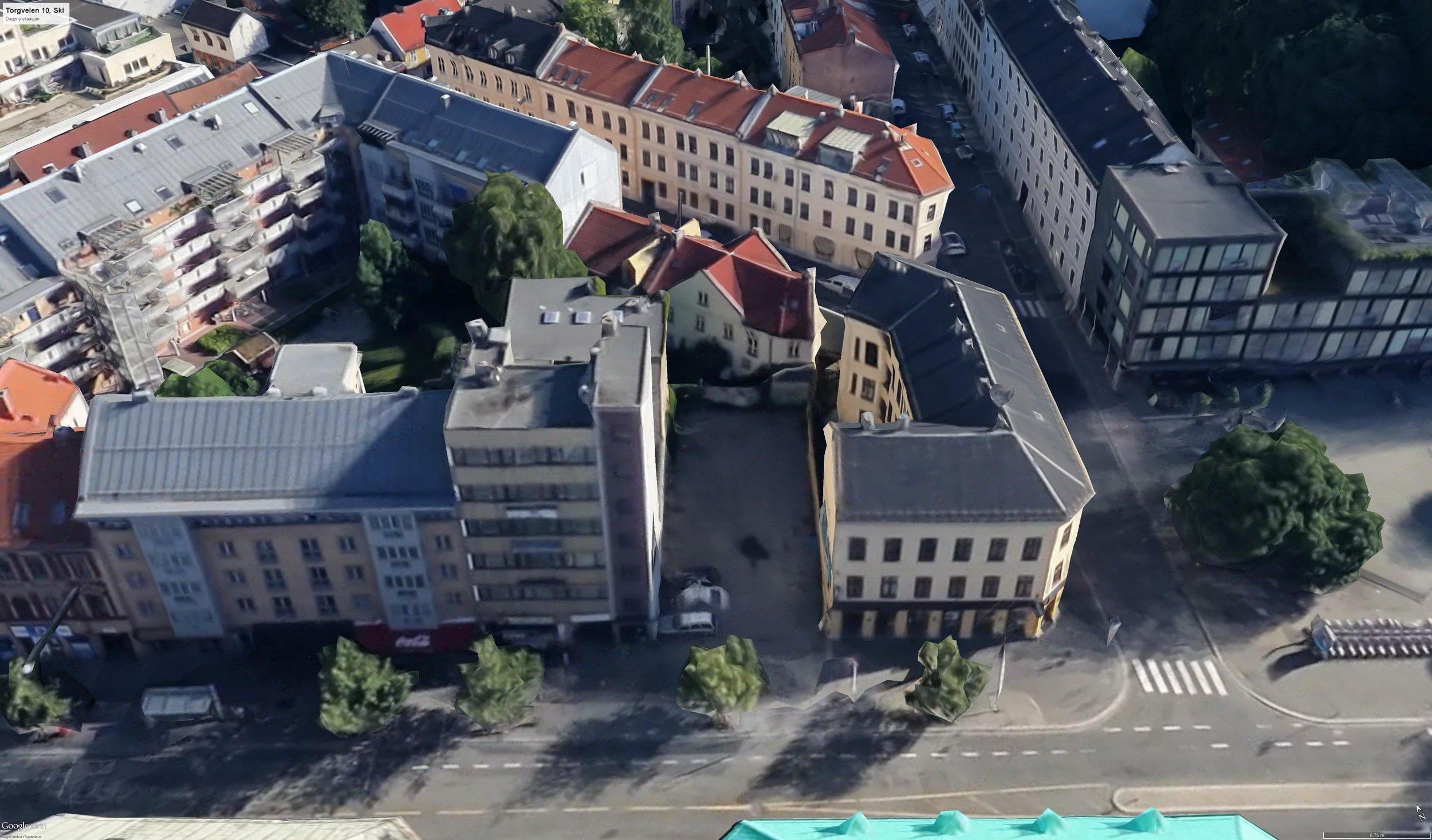 Grønlandsleiret 16. Google Earth.