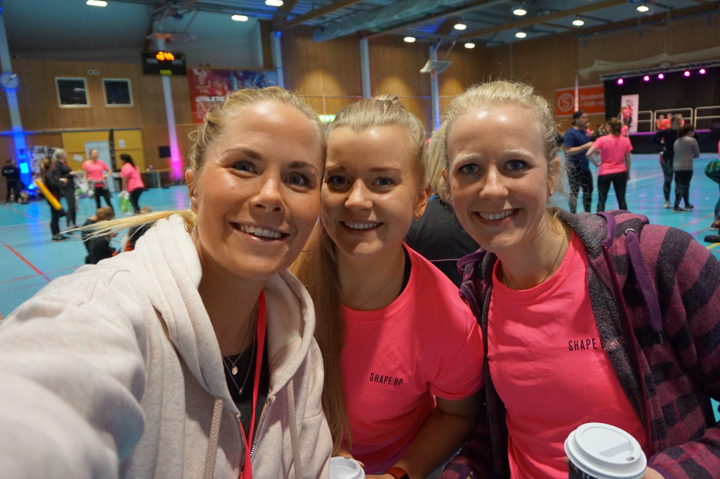 Sammen med Siri Helgerud og Sigrun Tovsrud :) Topp stemning!