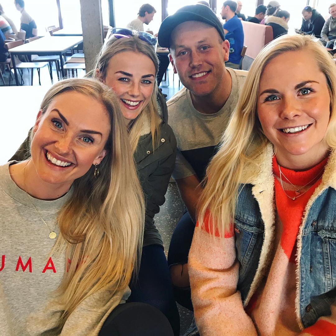 Sammen med den beste gjengen - Silje Thorstensen, Pia Seeberg og Sølve Sundrehagen :)