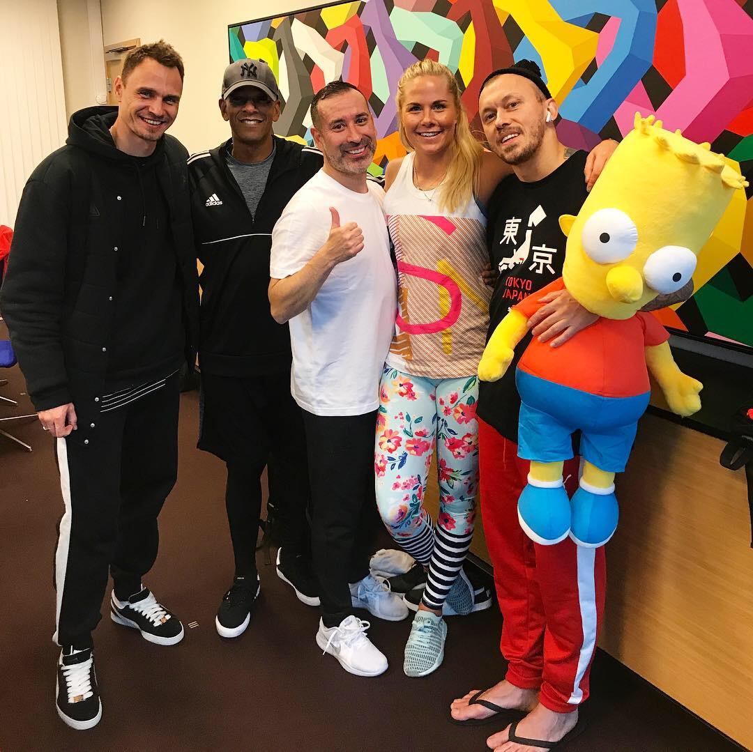 Fra venstre: Eugeniy Chausov, Tony Stone, Jorge Mix og Sasha Oshkin.