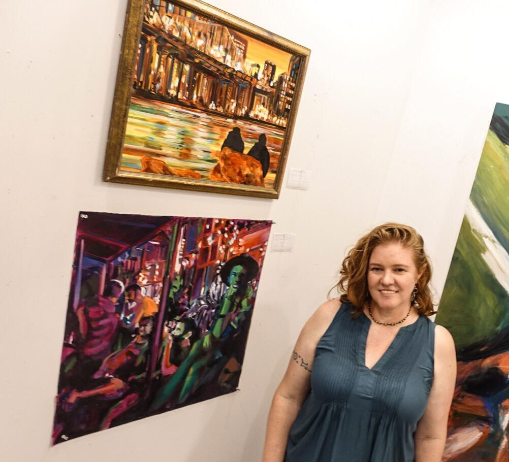 photo of Sharilyn Neidhardt at 2018 opening at Friday Studio Gallery by     Phil Buehler