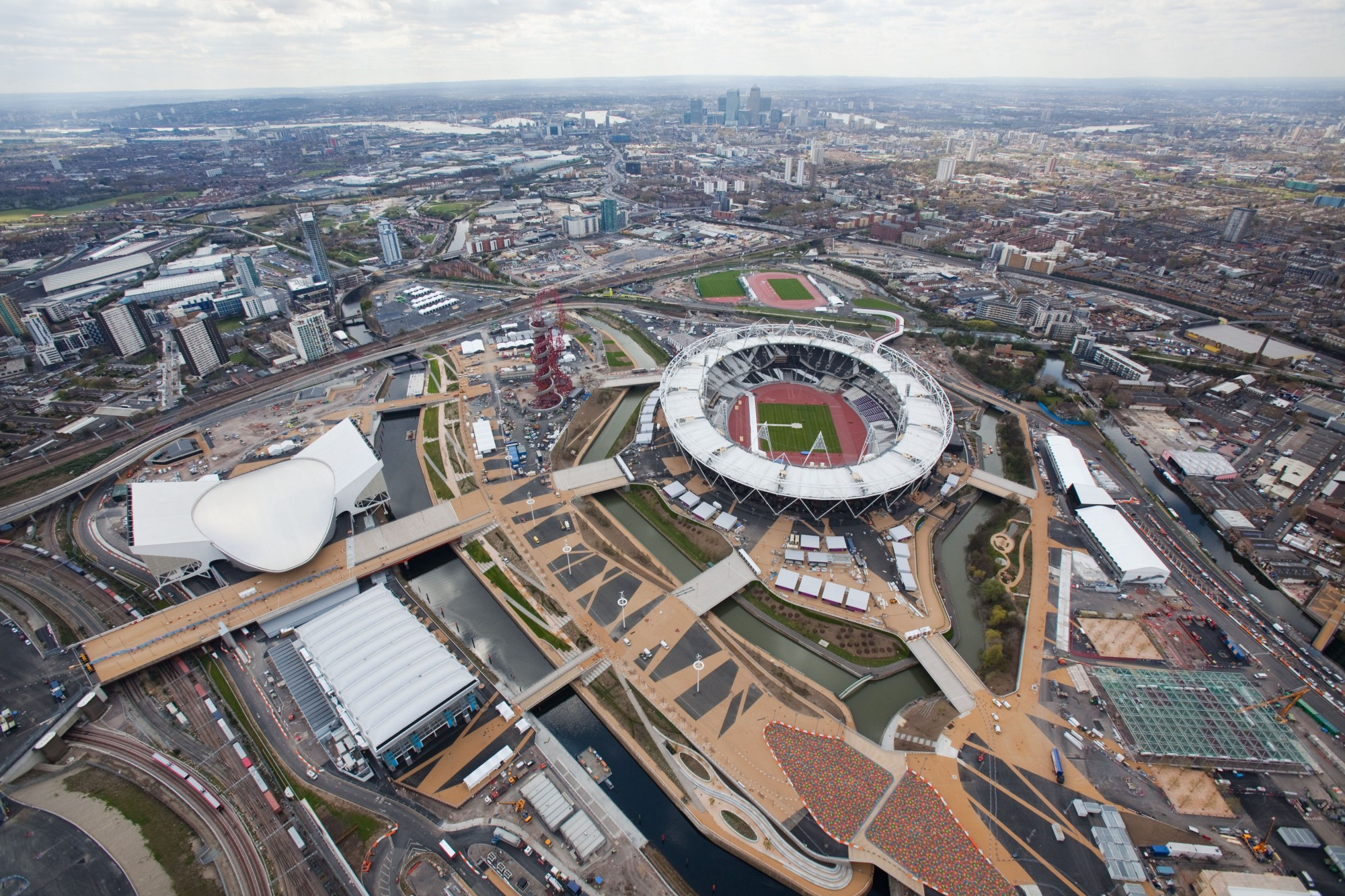 erial view of the Olympic Park looking south west towards London 2012 | EG Focus