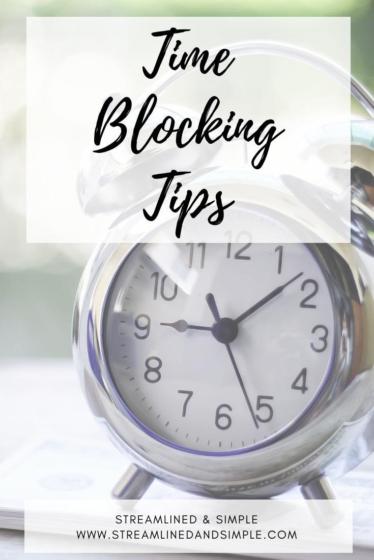 Time Blocking Tips