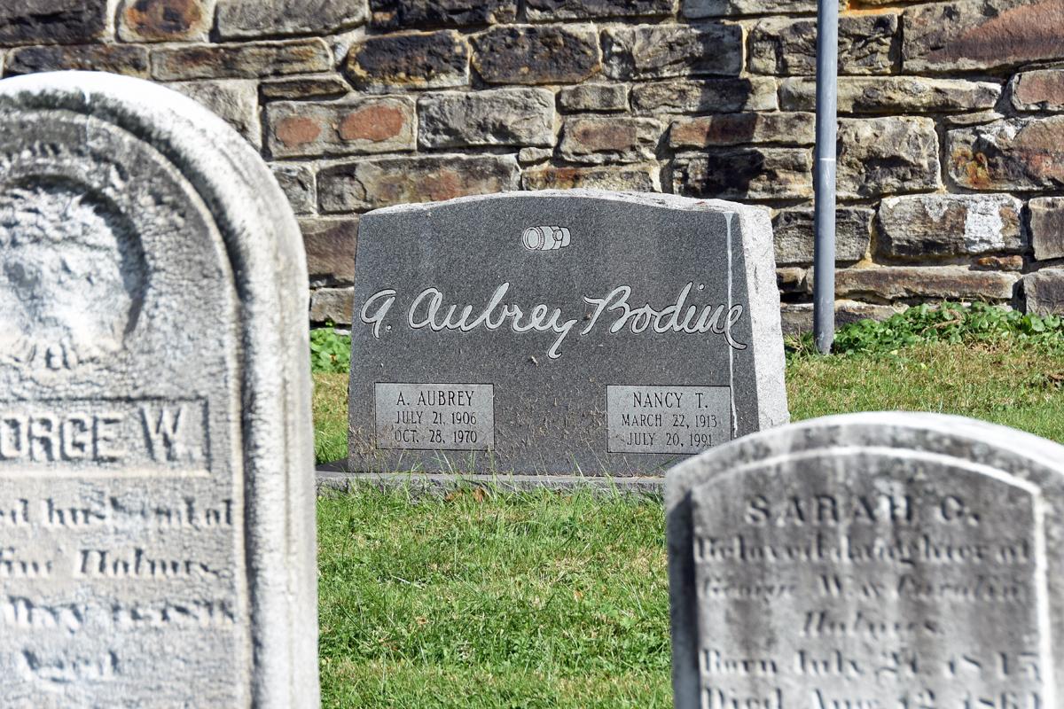 A. Aubrey Bodine's gravestone in Baltimore's Green Mount Cemetery