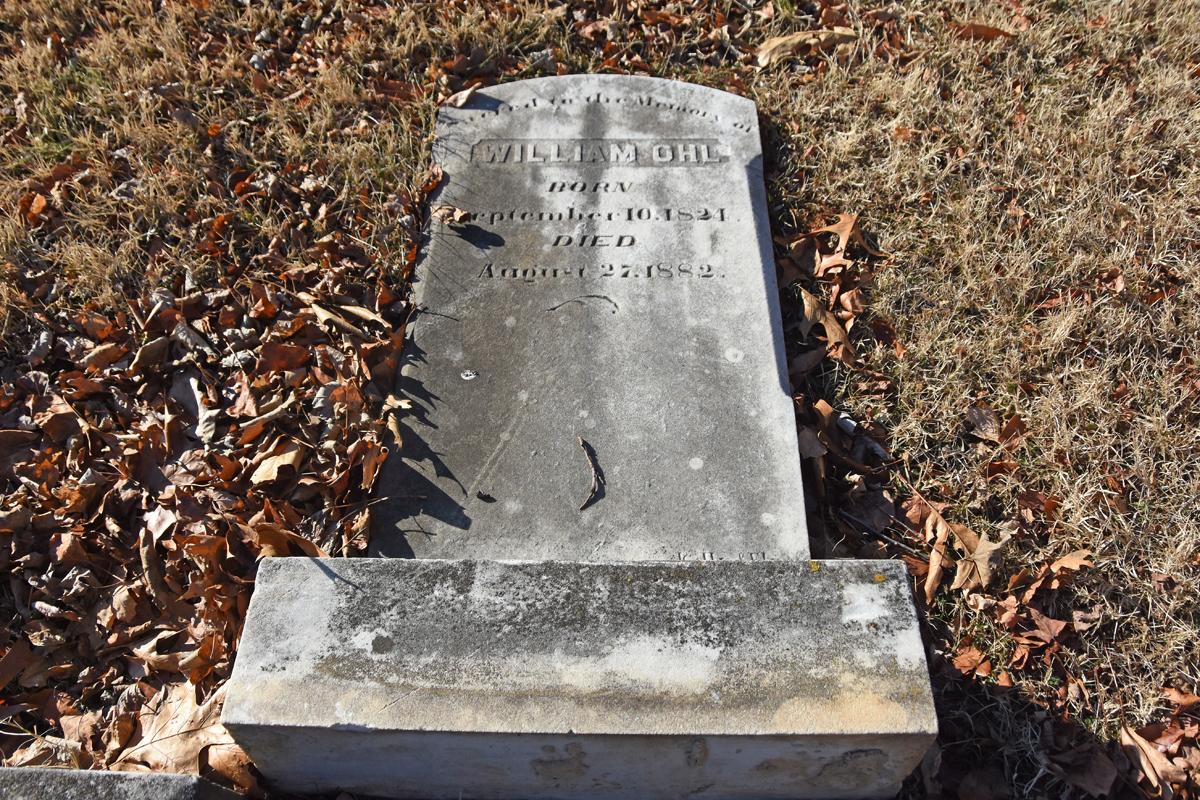 Gravestone from Powhatan Methodist Episcopal Church