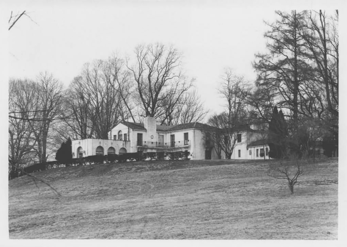 Image of Villa Pace from the Maryland Historic Trust Inventory.  Baltimore architects Palmer and Lamdin  designed the home. It recalled traditional Italian villas and included windows of varying shapes, fountains, terra cotta embellishments, archeologists chimneys and iron balconies.