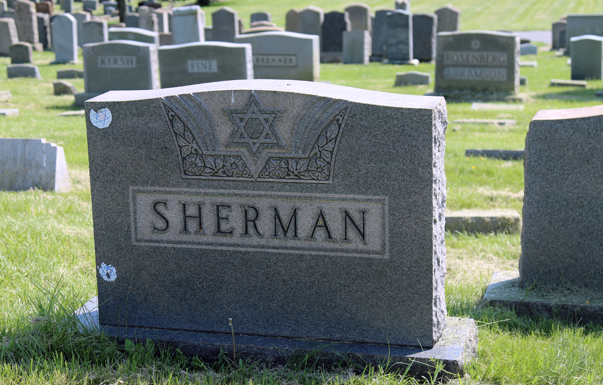 Abe Sherman, a war hero of two world wars and an infamous Baltimore newsstand owner, rests at Mikro Kodesh Beth Israel Cemetery on Bowleys Lane.