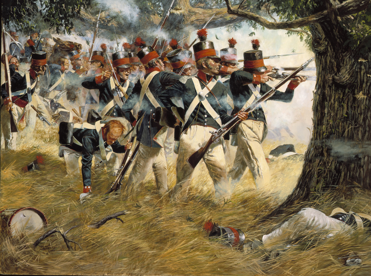 Maryland Fifth Regiment at Battle of North Point; painting by  Dan Troiani  from the  Maryland Guard Heritage Series