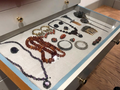Though they are most known for their art collections, Etta and Claribel brought home hundreds of pieces of jewelry and other collectibles from their world-wide travels. Photo by Kathi Santora